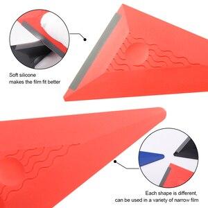 Image 2 - FOSHIO 3PCS/Set Vinyl Film Wrapping Squeegee Soft Edge Auto Wrap Window Tint Carbon Fiber Sticker Install Scraper Kit Car Goods