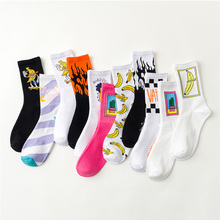 Creative High Quality Harajuku Fashion Men street Hip Hop Cotton Unisex happy socks