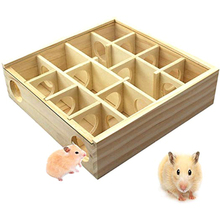 Pet Hamster Wooden Mazes Tunnel Gerbil Rat Mouse Mice Small Animal Play Toys LB88