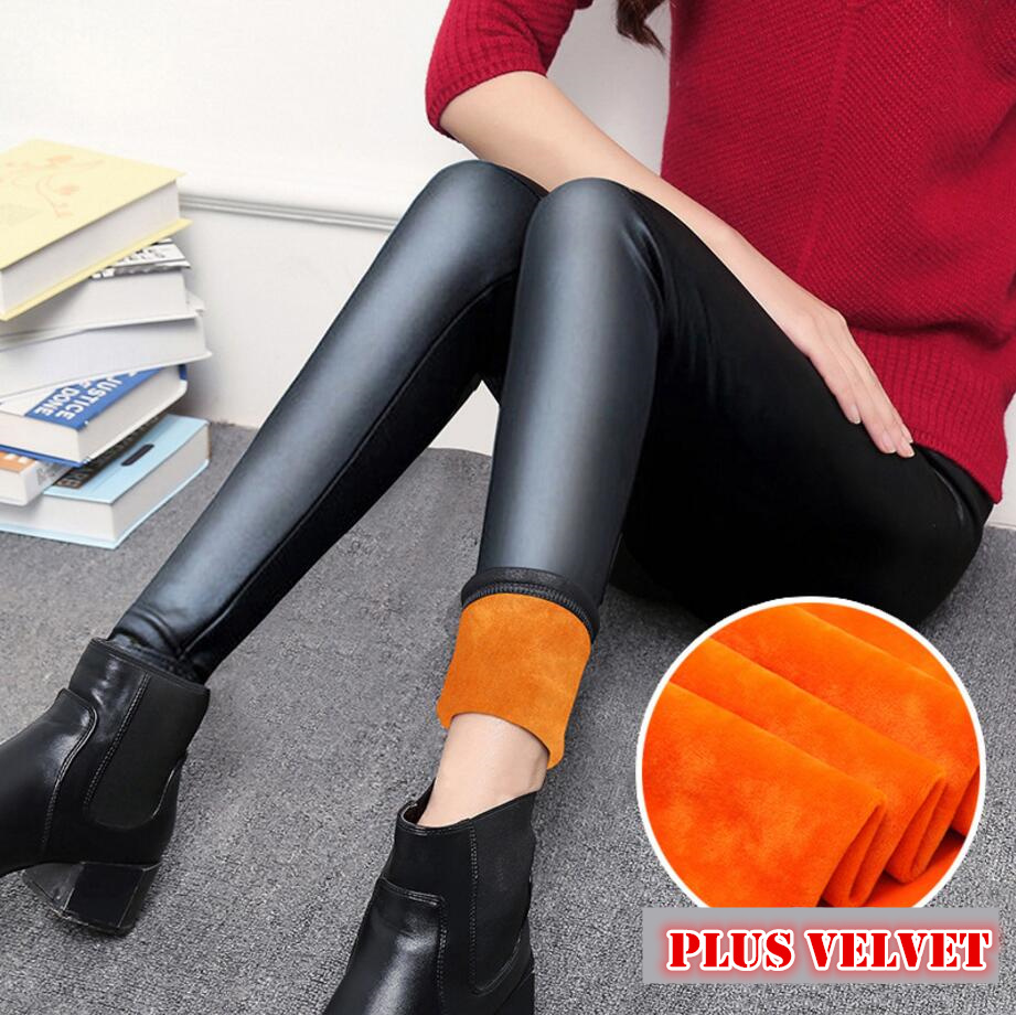 Winter   leggings   Women Autumn Warm   Leggings   Plus Velvet Pants Stretch Skinny Sexy thickening black   Leggings   Pants