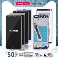Экран для HUAWEI P Smart LCD в сборе с тачскрином на рамке черный белый синий золото FIG LX1 FIG-LX1 FIG-LX3