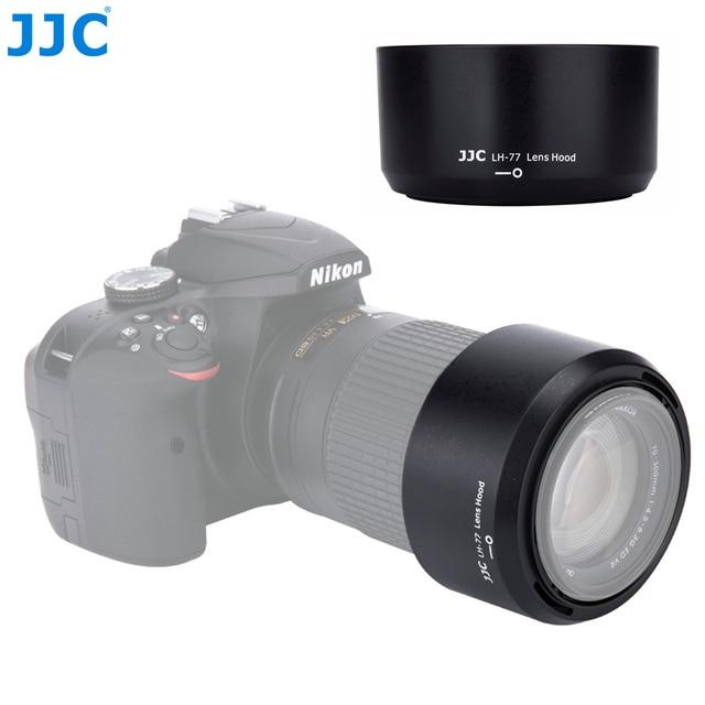 JJC Camera Lens Hood for Nikon AF P DX NIKKOR 70 300mm f/4.5 6.3G ED VR/AF P DX NIKKOR 70 300mm  f/4.5 6.3G ED replaces HB 77