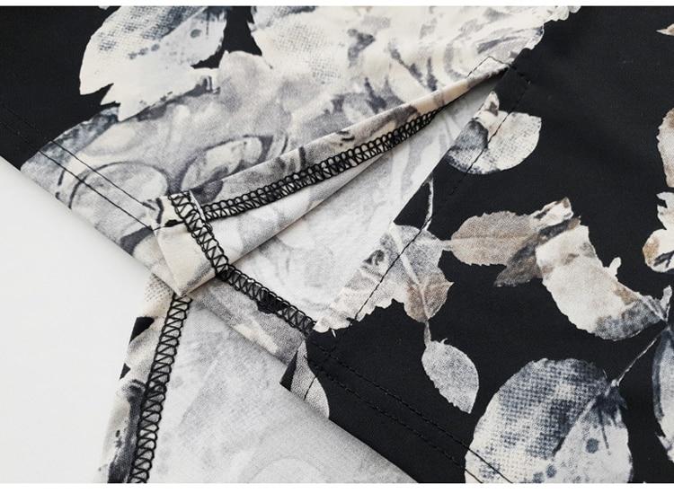 Floral Print Half Sleeve Sheath Knee-length Dress 14