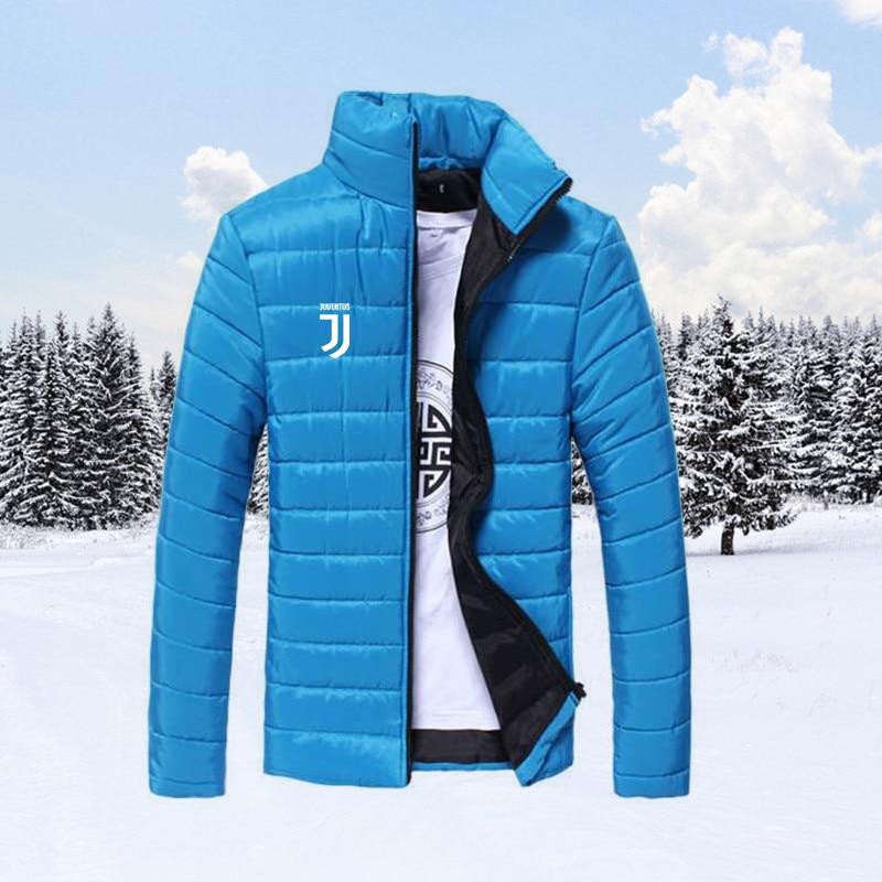 2019 Winter Hot New Stand Collar Winter Jacket Men Parka Fashion Casual Sports White Letter Print Jackets Coats Men Veste Homme