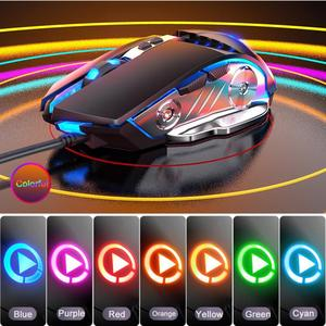 Image 3 - LED Backlight Portable Computer Game Home Universal Office Work For Laptop Gaming Keyboard Mouse Set Durable PC USB Wired