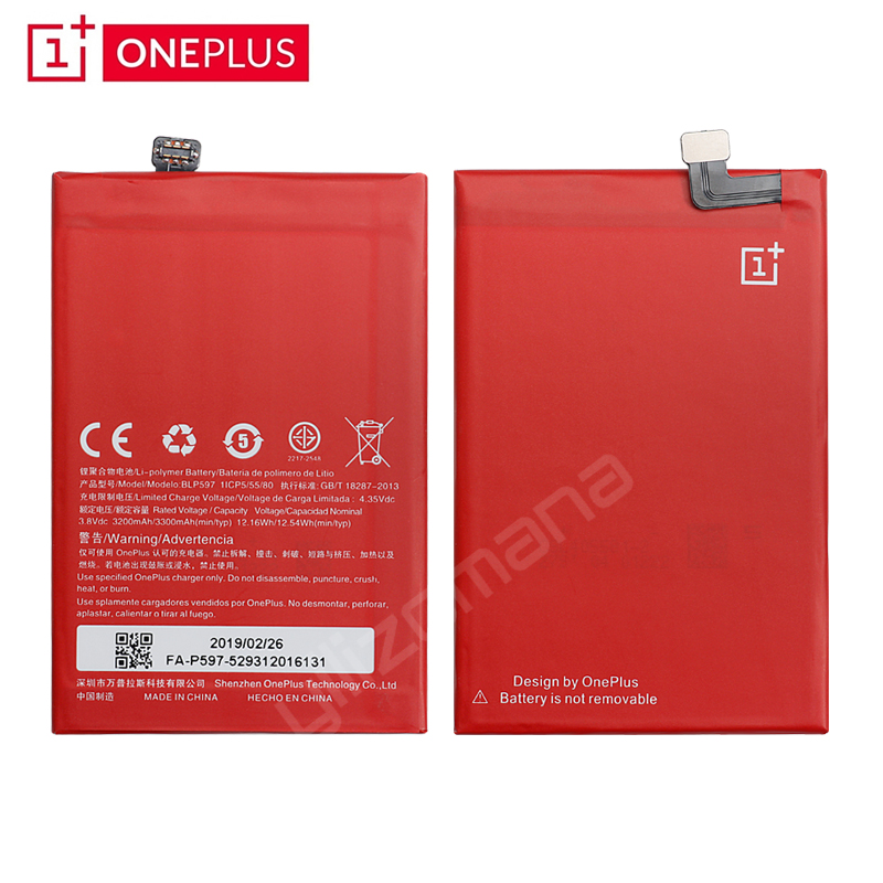 ONEPLUS Original Phone Battery For OnePlus 2 A2001 BLP597 3200 3300mAh High Quality Replacement Li ion Batteries Free Tools in Mobile Phone Batteries from Cellphones Telecommunications