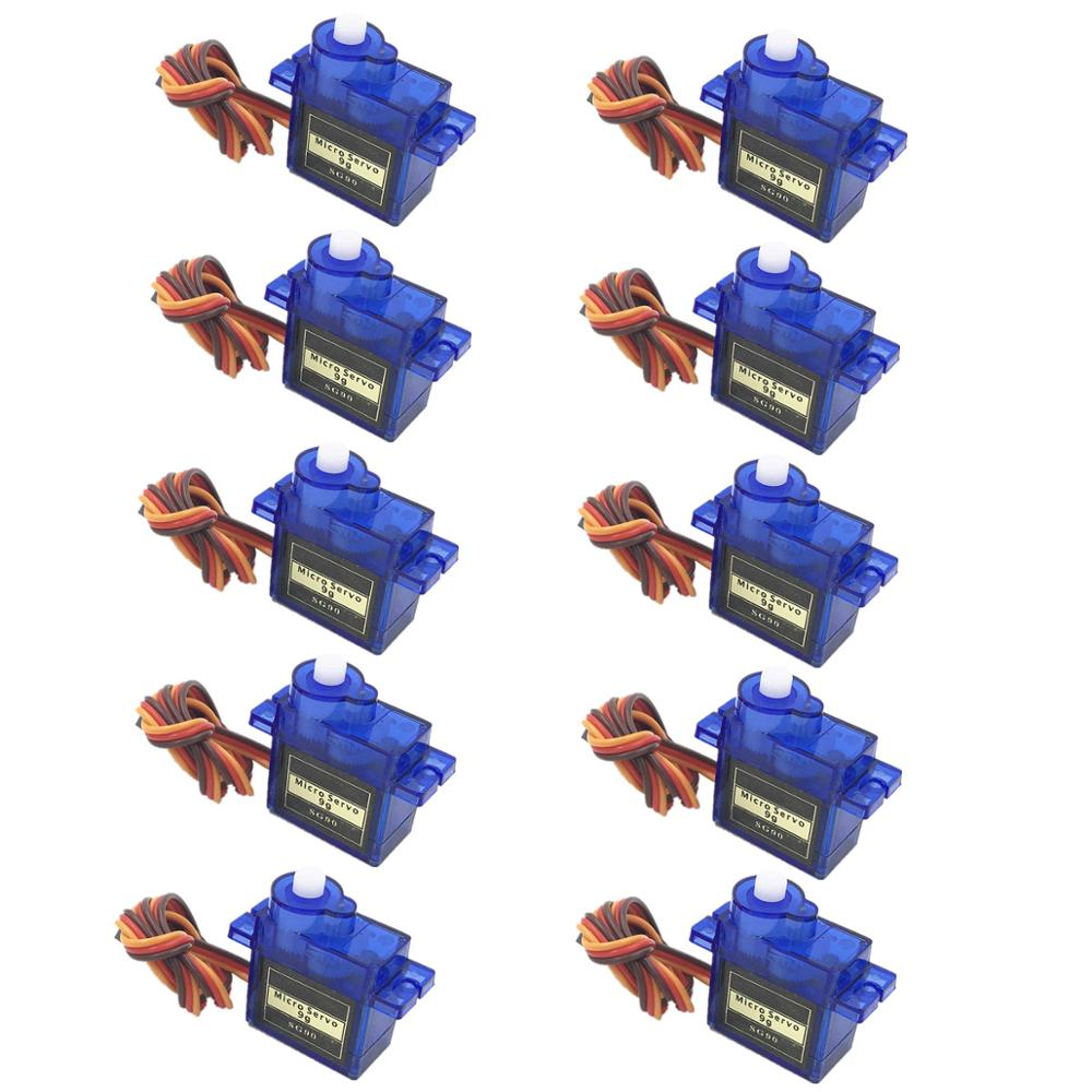 Free Shippping 5/10pcs/lot lofty ambition SG90 9g Mini Micro Servo for RC for RC 250 450 Helicopter Airplane Car Drop(China)