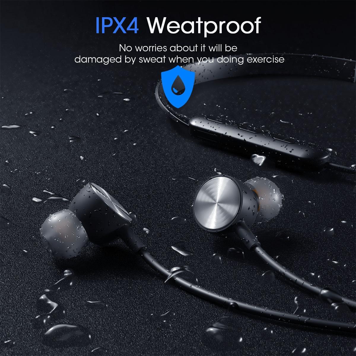 AMPCOM Bluetooth наушники беспроводные Bluetooth 5,0 спортивные наушники стерео наушники с зарядным устройством для iPhone Xiaomi