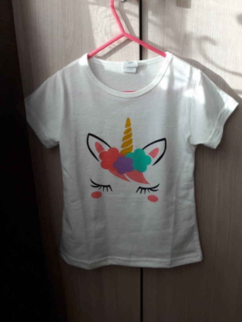 1-6Y ילדים ילדה T חולצת קיץ תינוק ילד כותנה חולצות פעוט טיז בגדי ילדים בגדים לבן חולצות קצר שרוול