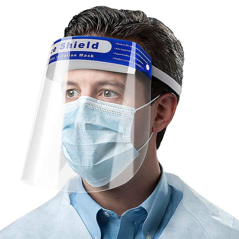 Offer !! Face Shield Anti-fog Body Fluids Spray Unisex Reusable Adjustable Transparent Full Face Safety Breathable Protect(7 to 10 Days Delivery)