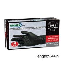 100pcs Black Gloves Disposable Permanent Gloves Latex Gloves S M L Ding Qing Powderless Gloves Black Ding Qing детские ткацкие станки аксессуары ding ding tong diy