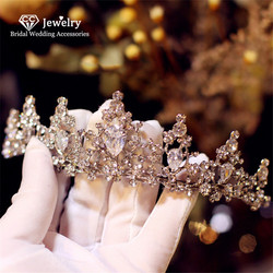 CC Crown for Women Bridal Tiara Wedding Hair Accessories for Bride Bridesmaids Queen Crowns Jewelry Charm Fine Party Gift HG033