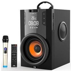 2200mAh Große Power Bluetooth Lautsprecher Subwoofer Drahtlose Tragbare Schwere Bass Stereo Lautsprecher Musik Player LCD Display FM Radio TF