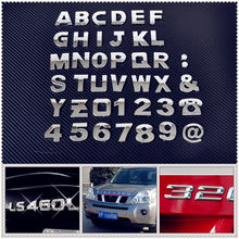 Car auto DIY Letter Alphabet number Stickers Logo for Hyundai HND3 Veloster i10 LPI 30blue R cee d ix Tucson IX35(China)