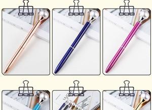 Image 5 - 500 pces/lote de diamante caneta grande gem cristal presente caneta pérola presente caneta feriado dhl entrega gratuita
