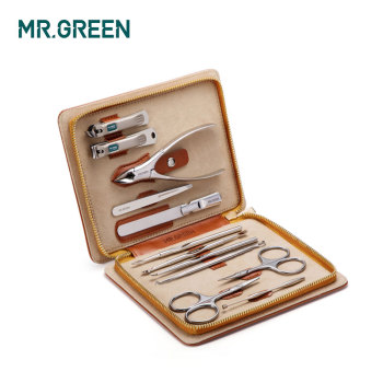 MR.GREEN 12 in1 Manicure Set Stainless Nail Clippers Cuticle Utility Manicure Set Tools Nail Care Grooming Kit Nail Clipper Set 2
