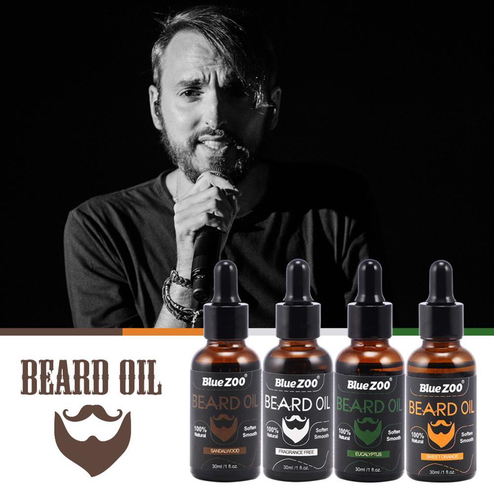 100% Natural Organic Men Beard Oil Wax Moustache Balm  Moisturizing Smoothing Dashing Gentlemen