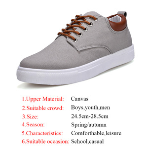 Image 5 - Big Size 39 47 Boys School Shoes Men Canvas Shoes Comfortable Sneakers 2020 Spring New Arrival Runway Shoes Male Sneakers