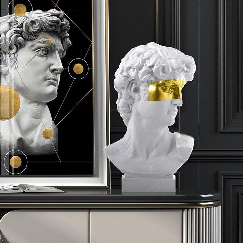 פסל ראש אל יווני דקורטיבי 3