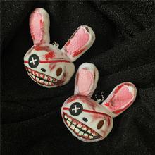 Кровавый пиратский кролик плюшевый брелок в стиле Харадзюку