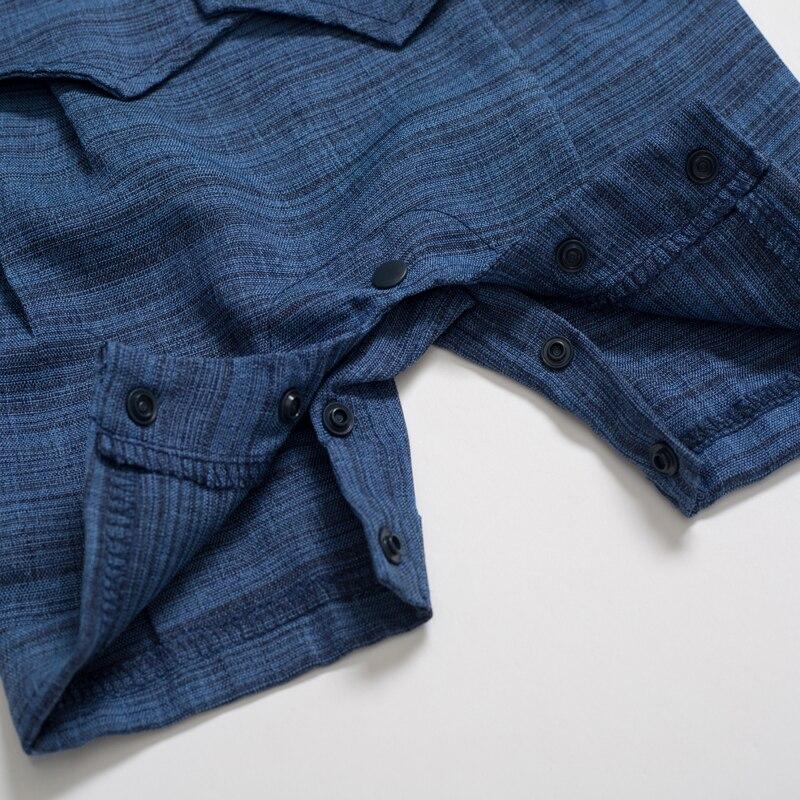 Letnie śpioszki dla dziecka nowonarodzone chłopięca odzież wizytowa bawełna dziecięca czapka + kombinezon + buty + skarpetki 4 szt. Strój niebieski kostium