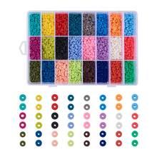 1 caixa de 24 cores contas de argila polímero artesanal ambiental 4mm 6mm 8mm disco heishi grânulo para diy jóias fazendo artesanato decoração