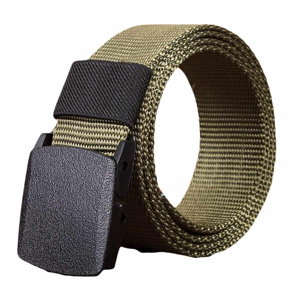 Militaire Nylon Verstelbare Riem Mannen Vrouwelijke Riemen Outdoor Reizen Tactische Taille Riem Gesp Militaire Tactische Canvas Wilde Riemen # Y5