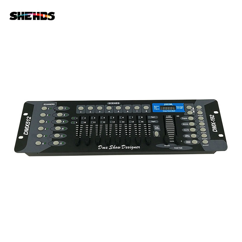 Gratis levering NY 192 DMX Controller Stage Lighting DJ-udstyr DMX Console til LED Par Moving Head Spotlights DJ Controller
