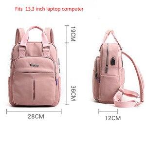 Рюкзак для ноутбука, розовый мужской рюкзак с usb-зарядкой, Женский дорожный рюкзак, школьная сумка для мальчиков-подростков, 2019