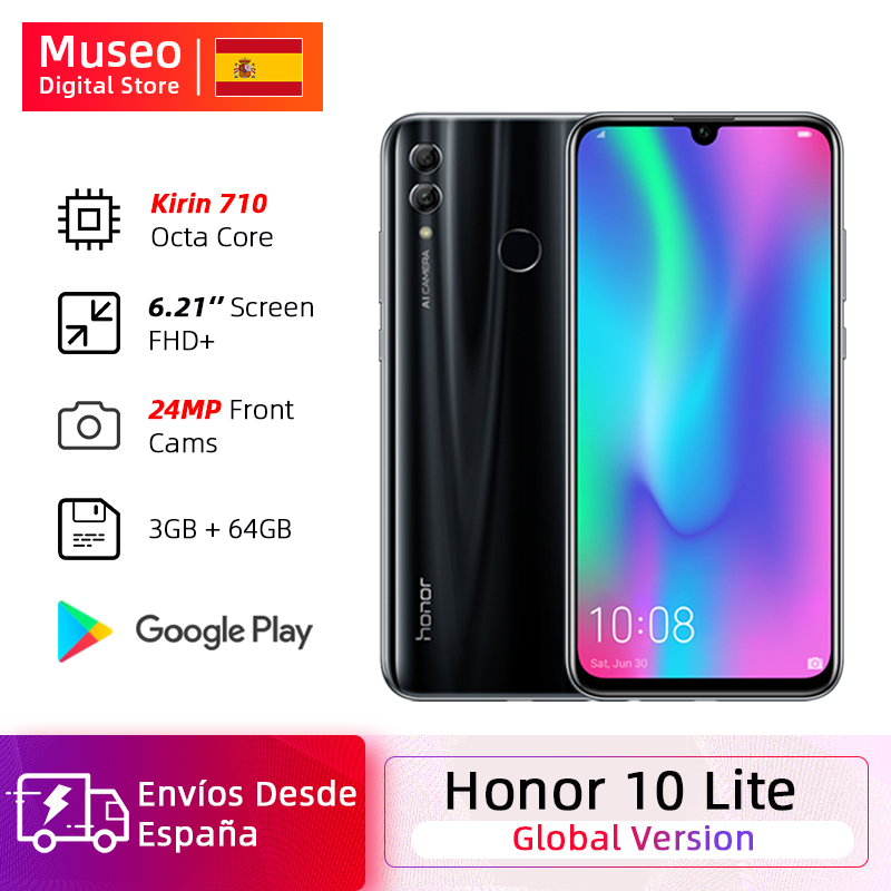 """Global version Honor 10 Lite Smartphone Kirin 710 Octa Core 6.21 """"2340X1080P 24MP front Camera Android mobile Phone OUTA"""