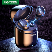 TWS наушники Ugreen, Bluetooth наушники, настоящие Беспроводные стереонаушники вкладыши, гарнитура, наушники вкладыши для спорта, TWS Bluetooth наушники