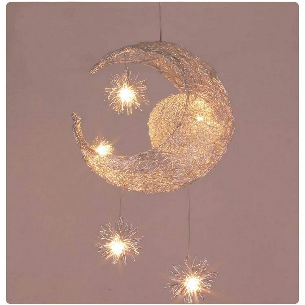 Moon Pendant Lights Modern Ceiling Lamps Children Bedroom Hanging Lamp Christmas Decorations for Home Fixture Light