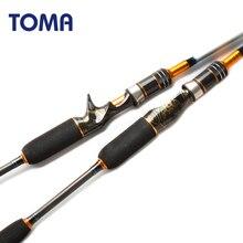 当麻高速アクション日本海釣りロッド鋳造1.8メートル1.98メートル2.1メートル2セクションmh 50 180グラムカーボンスピニングボート釣竿