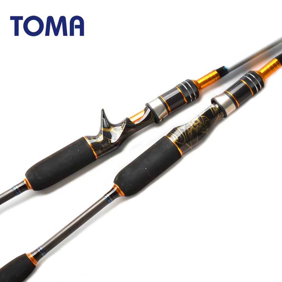 TOMA Fast Action Japan Sea Fishing Jigging Rod Casting 1.8m 1.98m 2.1m 2 section MH 50-180g Carbon Spinning Boat Fishing Rod title=