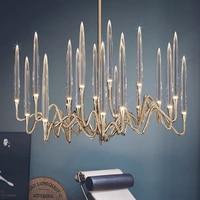 Luxury european candle chandelier lighting shop exhibition hall light fixtures gold bronze hanging lamp