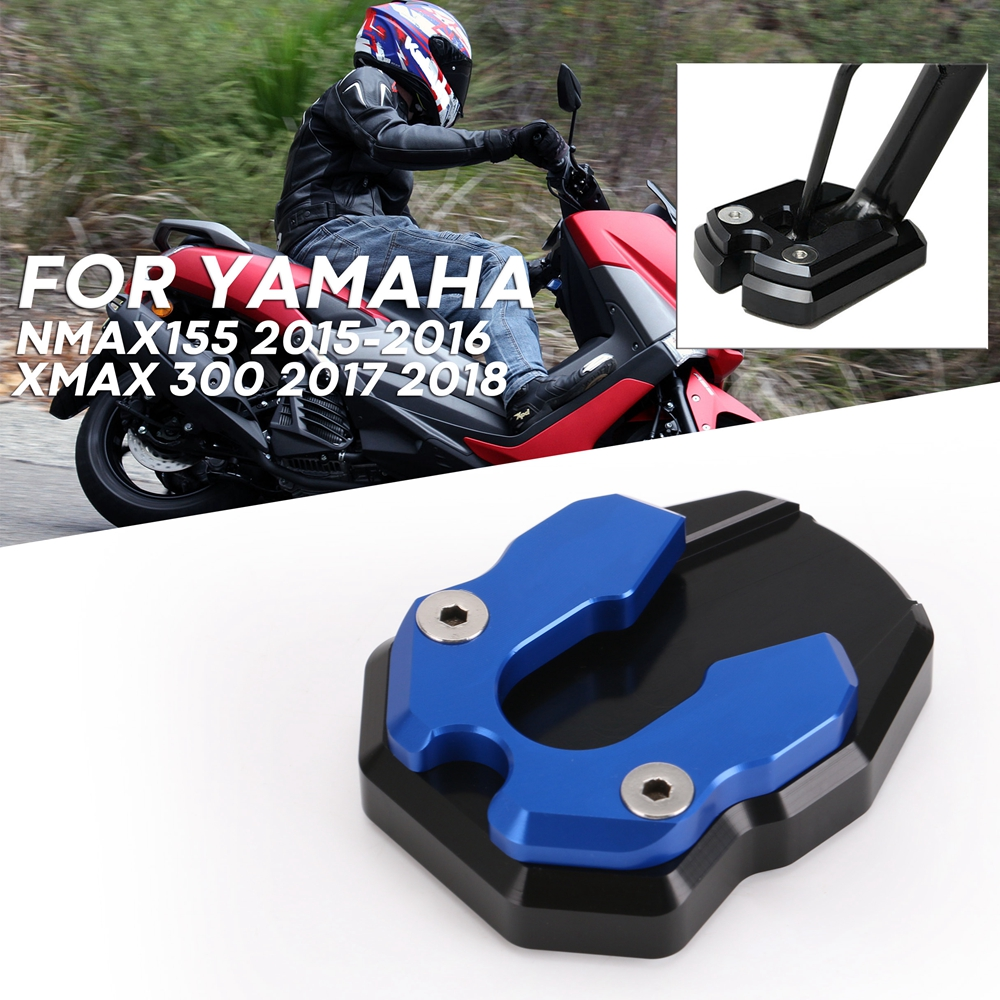 Foot Side Stand For <font><b>Yamaha</b></font> <font><b>Nmax155</b></font> 2015-2016XMAX 300 2017 2018 Extension Enlarger Pad Support Plate Side foot support Motorcycle image