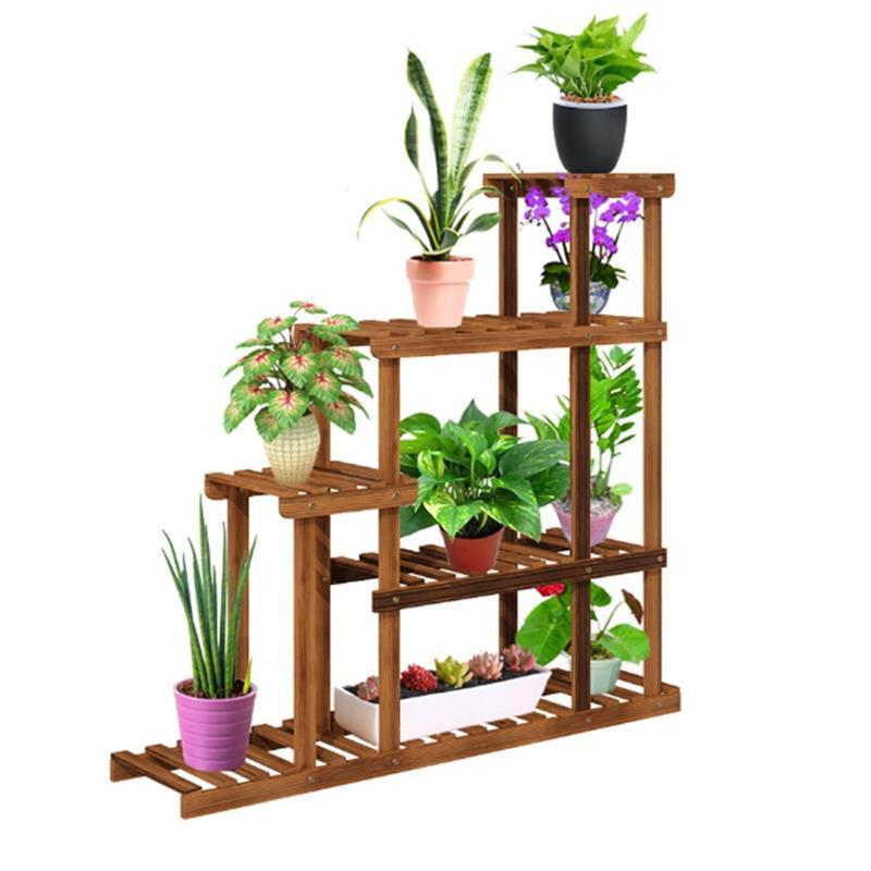 Escalera Decorativa Madera Wood Garden Shelves For Estante Para Flores Balcony Rack Outdoor Flower Stand Dekoration Plant Shelf