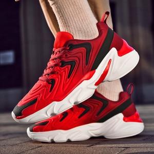 Image 5 - סתיו מעיל חדש למעלה נעליים יומיומיות באיכות גבוהה ונוח מותג גברים קל משקל לנשימה שטוח תחתית סניקרס