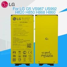 LG 원래 배터리 BL 42D1F LG G5 VS987 US992 H820 H830 H840 H850 H860 H868 LS992 F700 2700mAh 배터리