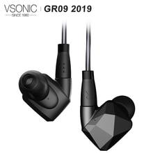 VSONIC GR09 2019 Version HIFI AUDIO Dynamische Treiber Professionelle Noise Isolation In Ear Kopfhörer mit MMCX Abnehmbare kabel