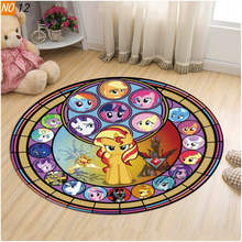 My Little Pony Rainbow Horse Rug Floor Door Mat Carpet For Living Room Bedroom Swivel Chair Hanging Basket(China)
