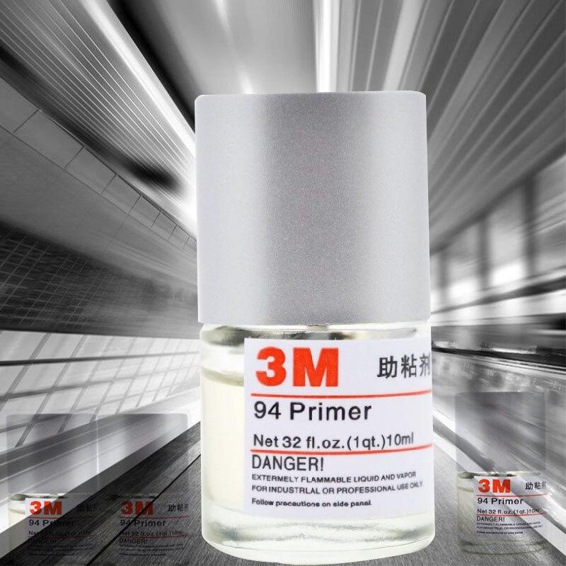 Клейкий праймер 3M 94, двусторонний клейкий активатор адгезии, 10 мл, инструмент для нанесения автомобильной пленки, быстрый клей для стайлинг...