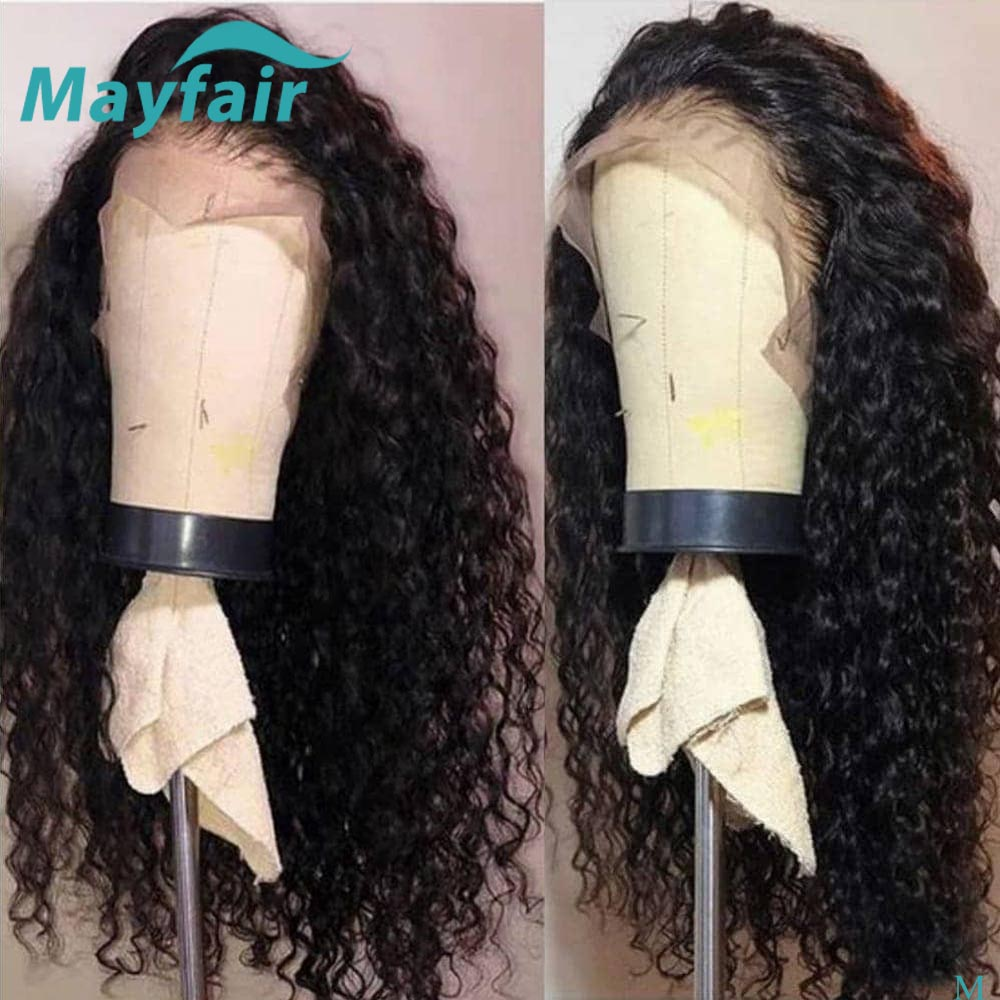 Water Wave Wig 150% Malaysian Human Hair Wig 13x4 Lace Front Wig For Women Remy 360 Lace Frontal Wig Pre Plucked With Baby Hair