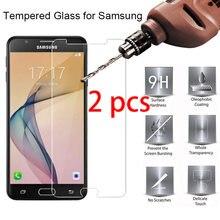 PEÇAS De Vidro Para Samsung J7 2 Pro J5 J3 J1 2016 2017 2015 Protetor De Tela Para Samsung S6 S7 A3 A5 A7 A8 A9 Plus 2018 Vidro