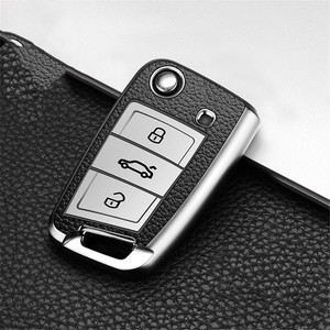 Image 3 - Car Key Case Cover For Volkswagen VW Polo Golf 7 MK7 Tiguan passat For Skoda Octavia Kodiaq Karoq For Seat Ateca Leon Key Bag