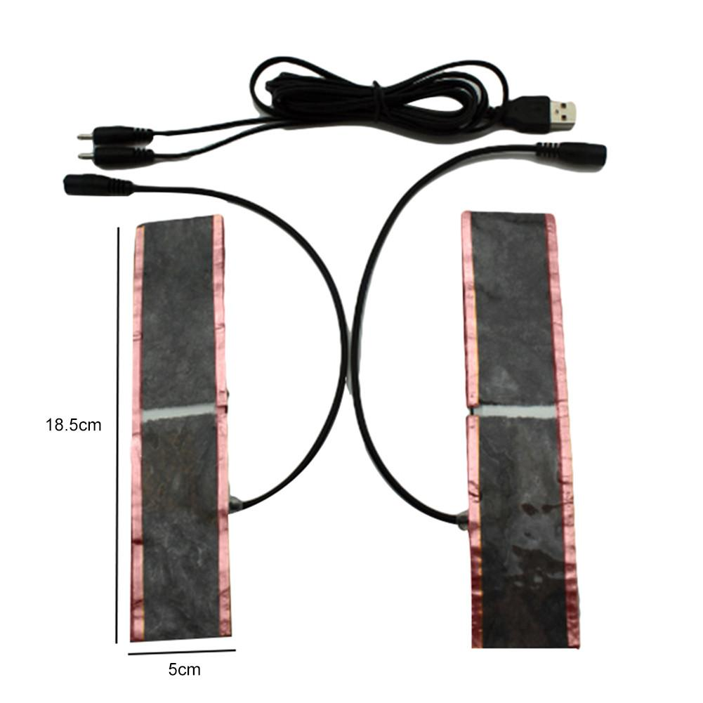 USB 1-to-2 Carbon Fiber Heating Plate Heating Film 5V For Warm Insole Clothing Kneecap Shoes