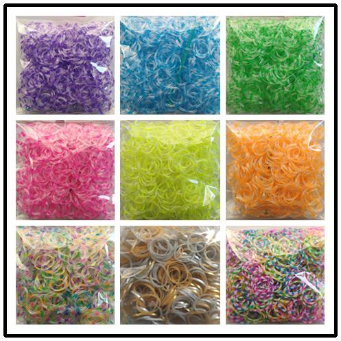 loom rubber bands bracelet for kids or hair Colorful rubber loom bands make woman bracelet DIY toys Christmas 2020 Gift