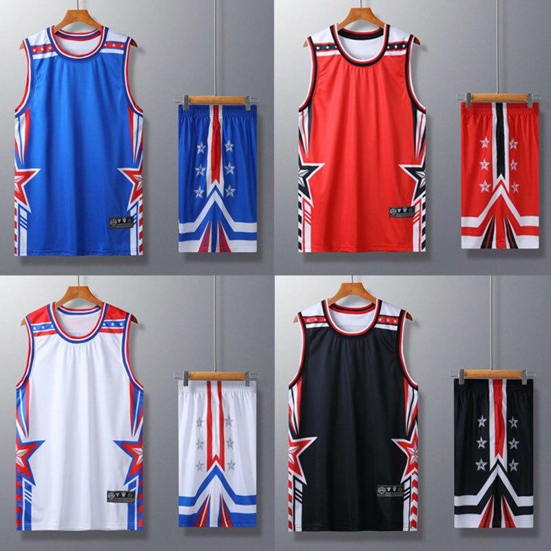 Terno de Treinamento de Basquete Camiseta e Shorts para Homens e Mulheres Uniforme de Equipe de Basquete Roupa Esportiva Personalizada Número
