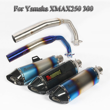 XMAX 250 300 Motorcycle Full Exhaust Pipe Tip Muffler With Front Link For Yamaha Slip On Before 2017