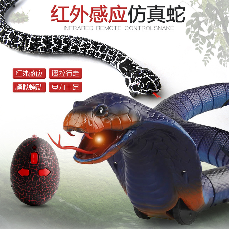 Strange New Trick Toys Electric Remote Control Infrared Frequency Model Rattlesnake Cobra Remote Control Snake Walking